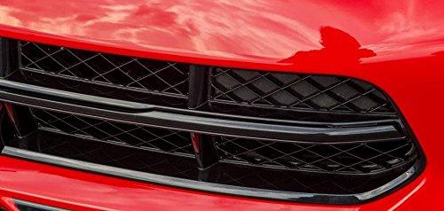 Bars Overlay - Corvette C7 Vinyl Chrome Grille Bar Overlay - Black Carbon Flash Metallic