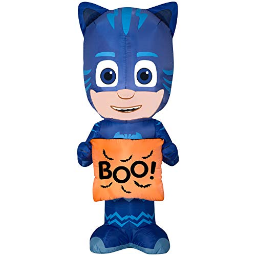 Halloween Airblown Inflatable PJ Masks Catboy 5FT Tall Lights up Indoor & Outdoor Decoration ()