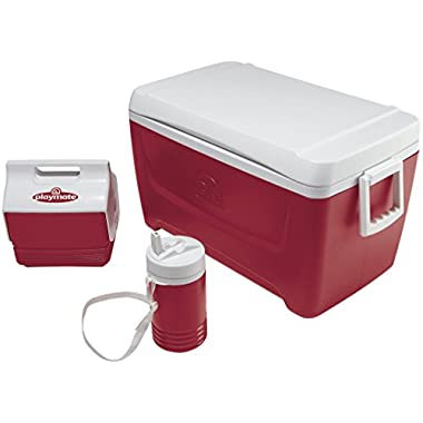 Igloo Island Breeze Cooler with Playmate Mini and Legend (Diablo Red, 48-Quart)