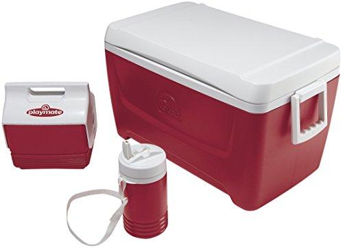 Igloo Island Breeze Cooler with Playmate Mini and Legend (Diablo Red, 48-Quart)