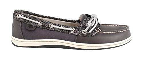 Top Sider Tie Sperry Leather (Sperry Top-Sider Women's Barrelfish Boat Shoe (5 B(M) US, Dark Navy))