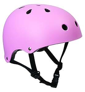 SFR - Casco para patinaje o ciclismo (talla L-XL: 57-59cm), color rosa mate
