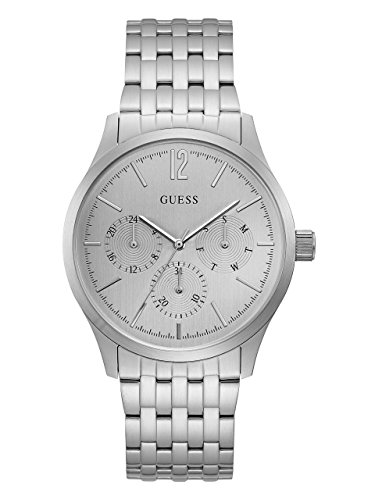 GUESS-Mens-Quartz-Stainless-Steel-and-Silicone-Casual-Watch-ColorSilver-Toned-Model-U0995G1
