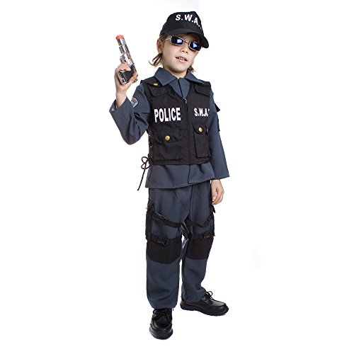 Dress Up America Deluxe Childrens S.W.A.T. Police Officer Costume Set - Medium -