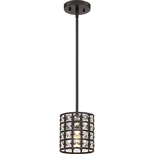 (Quoizel LXY1506IB Luxury Crystal Mini Pendant Lighting, 1-Light, 100 Watts, Imperial Bronze (8