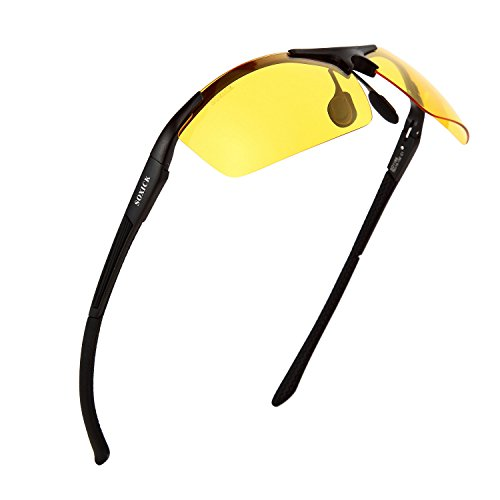Men's HD Polarized Anti-Glare Safety Glasses for Night Driving and outdoor (Anti Glare Driving Glasses)