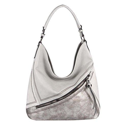 OBC Only-Beautiful-Couture, Sac pour femme à porter à l'épaule Rose Rosa. ca.: 42x34x12 cm (BxHxT) Gris Clair