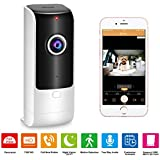 Home Security Camera Wireless – Pet Camera Baby Monitor WiFi with 180°Wide View, Indoor Security Camera HD IP Camera 720p with Call Now Button/ 2 Way Audio Talk/Night Vision/Motion Detection/Siren