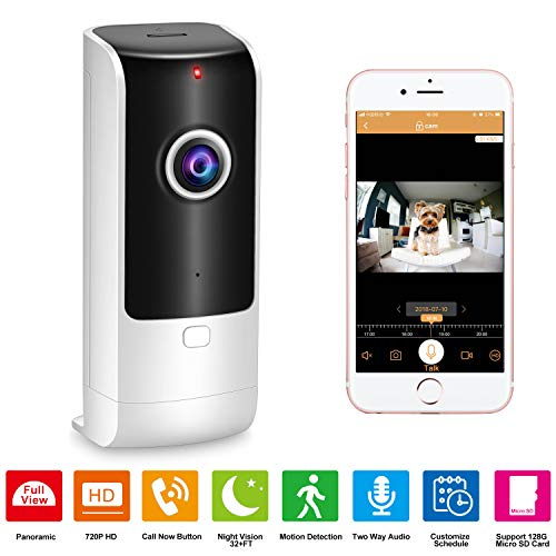 Home Security Camera Wireless – Pet Camera Baby Monitor WiFi with 180°Wide View, Indoor Security Camera HD IP Camera 720p with Call Now Button/ 2 Way Audio Talk/Night Vision/Motion Detection/Siren by Daping