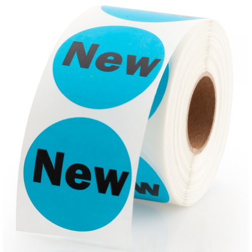 """New"" Sale Retail Pricing Round Label / Stickers 1.5"" - 500 Labels Per Roll, 1 Roll Per Package"
