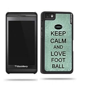 Keep Calm And Love Football Teal FloralBlackberry Z10 Case - For Blackberry Z10