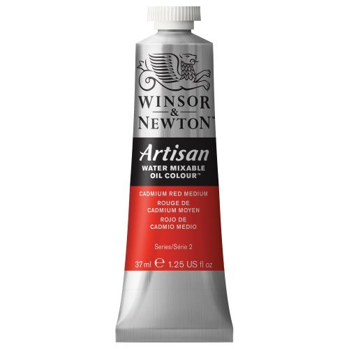 - Artisan Water Mixable Oil Paint 37ml Tube - Cadmium Red Medium by Winsor & Newton