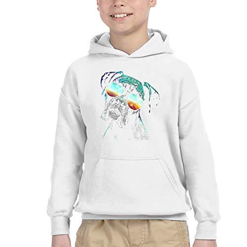 AIDEAR Boxer Neon Dog Child Long Sleeve Hoodie Sweatshirt 39
