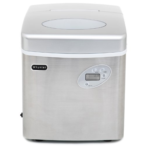Whynter IMC-490SS Portable Ice Maker, 49-Pound, Stainless Steel by Whynter