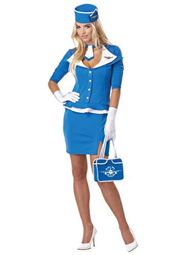 California Costumes Womens Plus Size Retro Stewardess Costume (Stewardess Costume Plus Size)