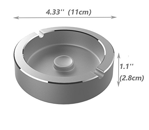 Aluminium Cigarette Ashtray (Ashtray, 2#Silver)
