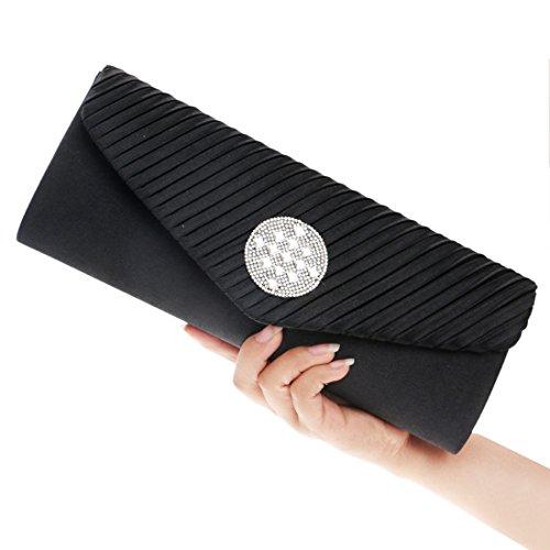 Sweet Black Fashion Bags Bag Lady Folds Ladies Crossbody Evening JESSIEKERVIN Shoulder Clutches wR6qYPxa