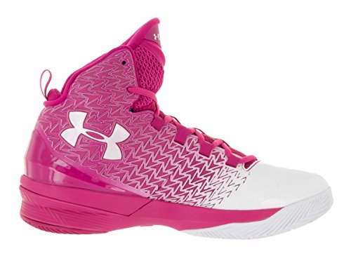 Under Armour Herren UA ClutchFit Drive 3 Basketball Schuhe Tropic Pink / Weiß / Weiß