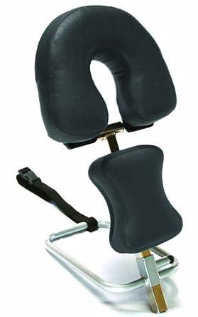 "3B Scientific W15056B Black Stainless Steel Adjustable Headrest, 11.8"" Length x 15.7"" Width x 9.4"" Height"