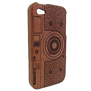 QYF With Different Patterns Real Natural Bamboo Wood Wooden Hard Case Cover For Apple Iphone 4G (Assorted Color) , Gray