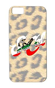 So Cal States Cities Countries Cali California White Shockproof TPU Protective Hard Case For Iphone 5c