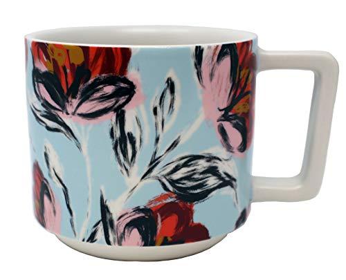 (Starbucks 2019 Peony Swirl Ceramic Mug 14 Oz, Blue)
