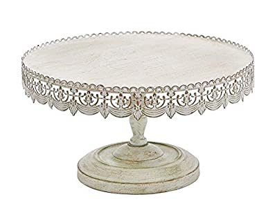 Deco 79 Metal Cake Stand Home Decor, 16 by 9-Inch
