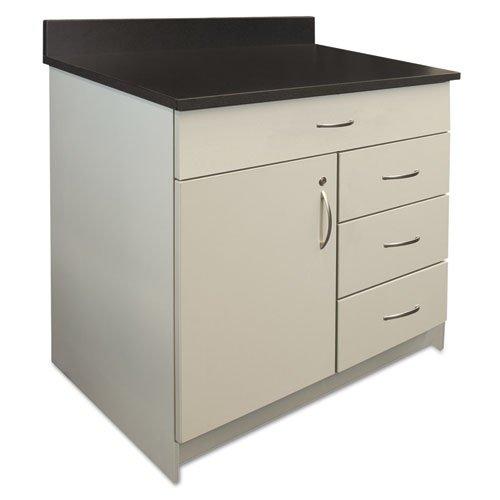 Alera Plus BR103GY Hosp. Base Cabinet, Four Drawer/Door, 36 x 24 3/4 x 40, Gray/Granite Nebula ()