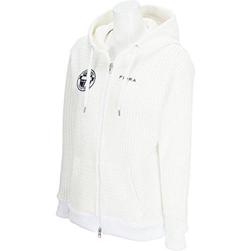 フィドラ FIDRA 中間着(セーター、トレーナー) パーカー レディス ホワイト S