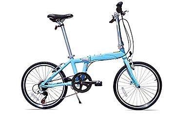 Allen deportes Urban X aluminio 7 velocidad bicicleta plegable, Cielo, 30 cm/un