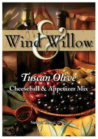 Wind & Willow Tuscan Olive Cheeseball and Appetizer Mix .89 oz. (Cheeseball Tuscan Olive)