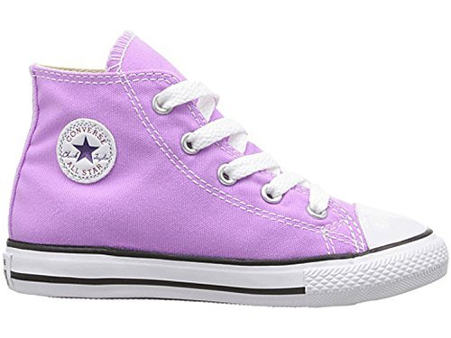 Converse Kids Chuck Taylor All Star Hi Infant/Toddler Fuchsia Glow Girl's Shoes (Toddler Canvas Footwear Fuchsia)