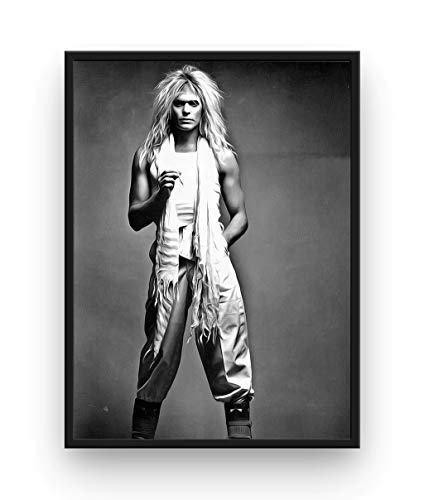 Mile High Media David Lee Roth Poster Fine Art Canvas Black and White Print - Van Halen (24x36) ()