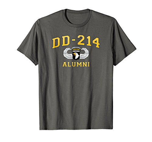 DD-214 US Army 101st AIRBORNE Division Alumni - T-shirt Airborne Military 101st