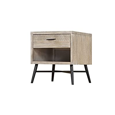 """Artum Hill Laurel End Table, modern gray - The Laurel end table is a nod to Palm Springs and Mid Century Modern design, bringing a fresh look to your home Dimensions: 22"""" Length, 22"""" Width, and 24"""" Height Makes everyday life a little bit easier with features like full-extension ball bearing drawer glides - living-room-furniture, living-room, end-tables - 41pf6BonuCL. SS400  -"""