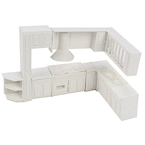 SODIAL Doll house Miniature toy house cabinet kitchen furnit