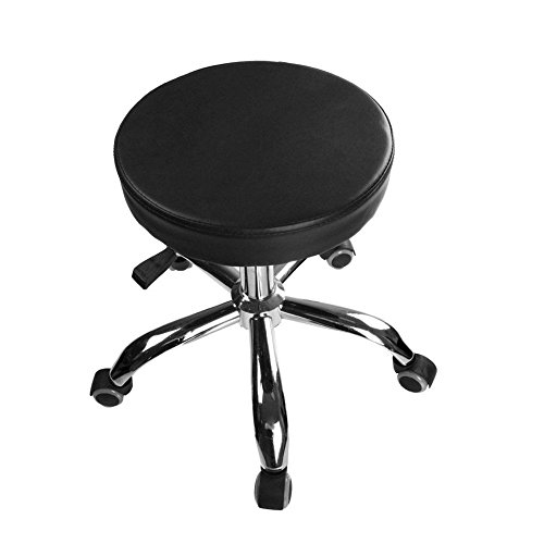 Anferstore Hydraulic Adjustable Swivel Drafting Salon Chair Office Chair Beauty Salon Work Bench Club Bar Stool - Black