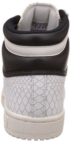 adidas Top Ten Hi, Zapatillas Altas para Mujer Blanco (Off White/Off White/Core Black)