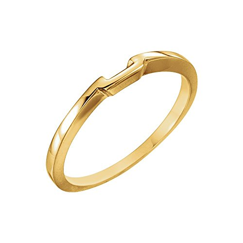 Bonyak Jewelry 14k Yellow Gold Band for 3.5mm Solitaire Mounting - Size 6 14k Yellow Gold Solitaire Mounting
