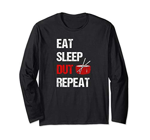(Band Orchestra Drummer Eat Sleep Dut Repeat Funny  Long Sleeve T-Shirt)
