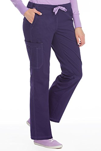 - Med Couture Signature Women's 2 Cargo Pocket Scrub Pant, Plum, 2X-Large