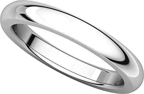 Mens Platinum, Heavy Comfort Fit Wedding Band 3MM (sz 7) (Platinum Heavy Ring)