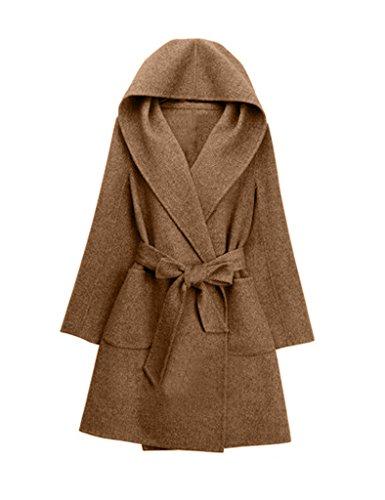 Laine Mi Bestgift Manteau Longue Camel Vogue Femme 5t11qH