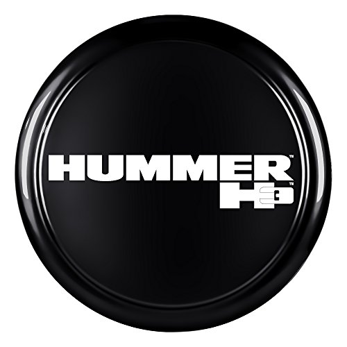 """Carbon Flash Painted Rigid Tire Cover 33/"""" Hummer H3 Logo"""