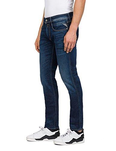 dark Replay 7 Blue Denim Slim Uomo Jeans Anbass Blu wzyFxzqXvr
