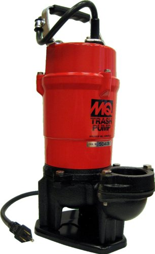 Multiquip ST2040T Single Phase Submersible Trash Water Pump, 40-Feet Head, 79 GPM, 2-Inch Discharge