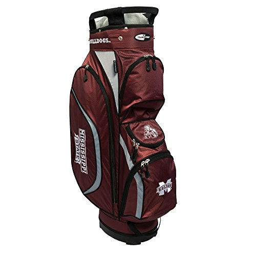 Team Golf NCAA Clubhouse Cart Bag, Mississippi State by Team Golf