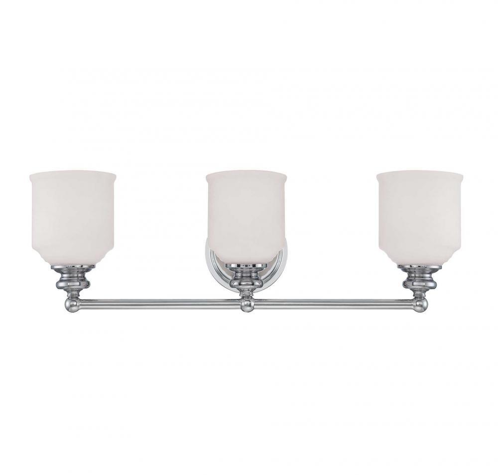 Savoy House 8-6836-3-SN Melrose 3-Light Vanity Bar in Satin Nickel
