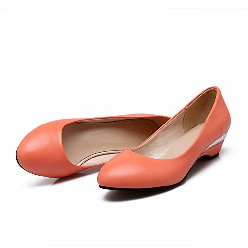 Carolbar Womens Barbie Lolita Style Cuff Fashion Cute Sweet Dress Low Heel Loafers Shoes Orange zoEGb0JCLp