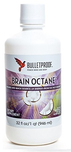Bulletproof Brain Octane Oil 32 oz - With Convenient Measuring Spoon Set
